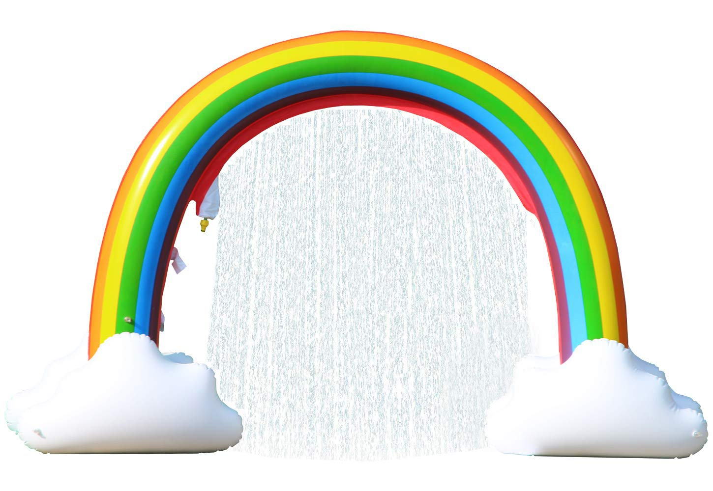 LANGXUN Giant Inflatable Rainbow Sprinkler Arch, Outdoor Summer Water Toys for Kids 3