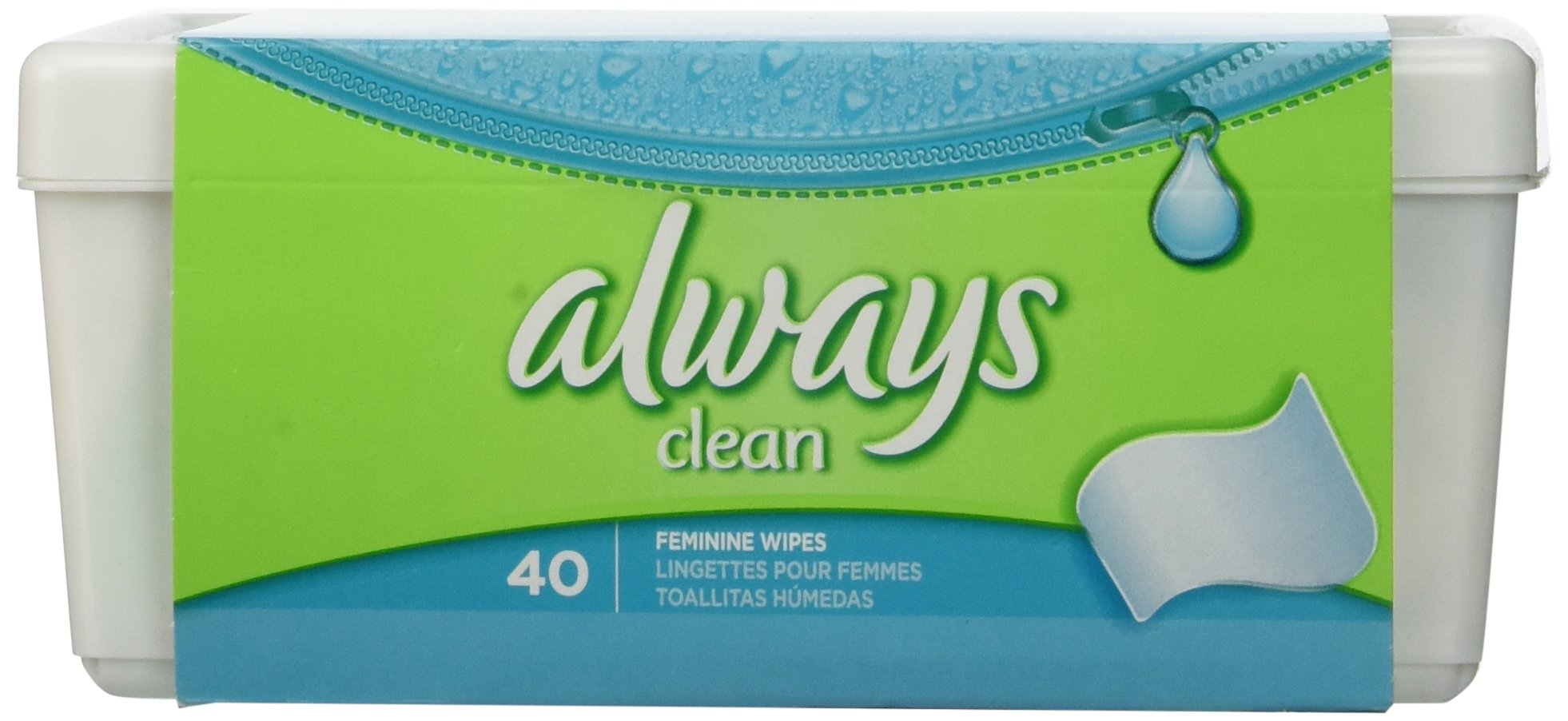 Amazon.com: Always Always Wipes Tub Lightly Scented 40 Count (1 Package of 40 Wipes): Health & Personal Care