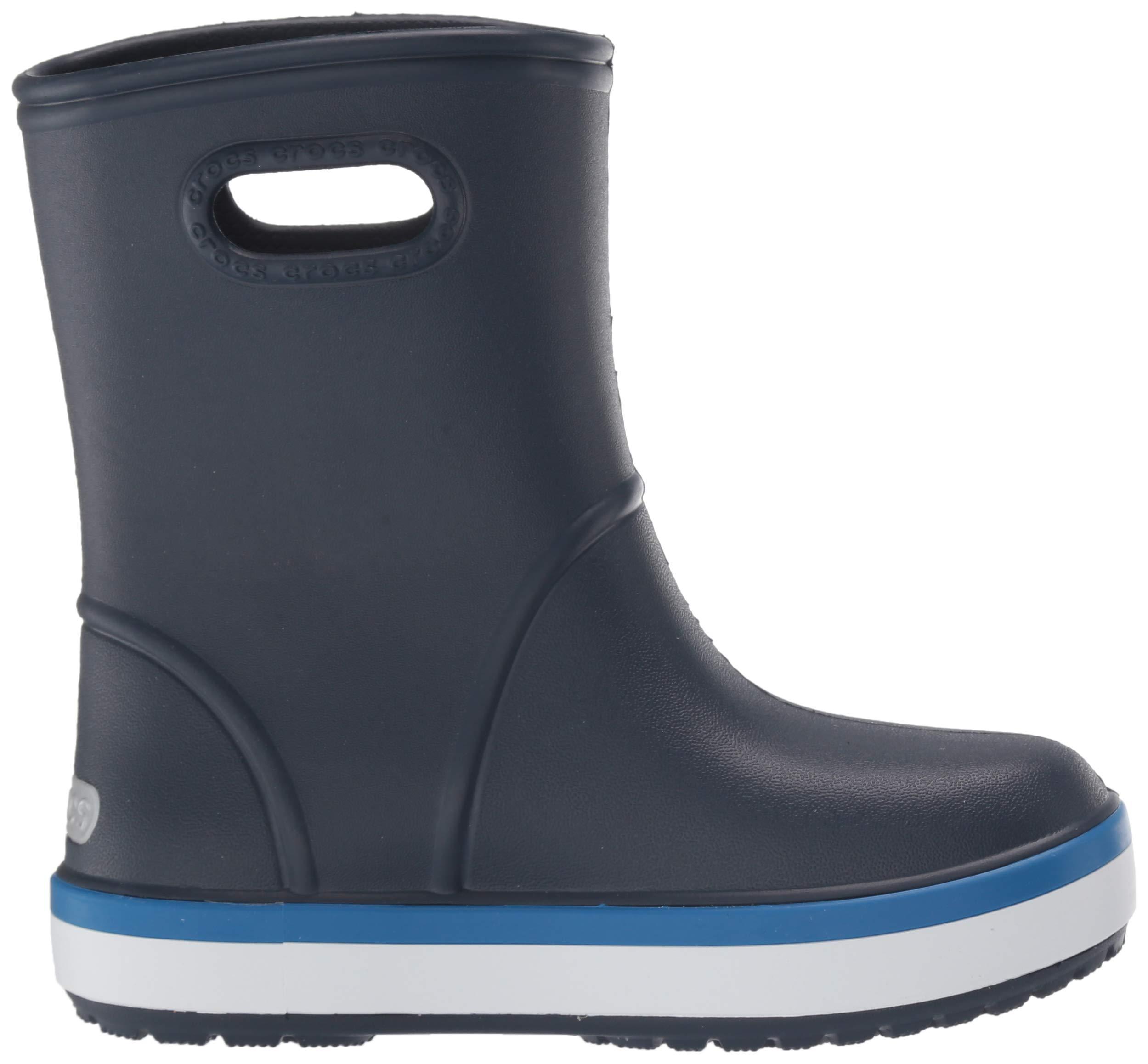Crocs Unisex Crocband Rain Boot, Navy/Bright Cobalt, 2 M US Little Kid by Crocs (Image #7)