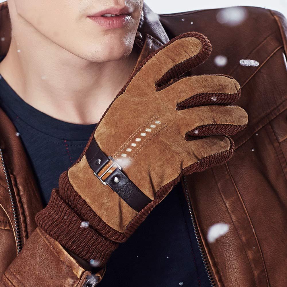 YIWANGO Paar Modelle Männer Und Frauen Handschuhe Winter Warme Handschuhe Radfahren Motorrad Ski Handschuhe,Men-Yellow
