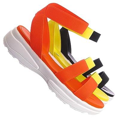 e18dd6357d773 Aquapillar Sporty Elastic Footbed Sandal - Women Utilitarian Platform EVA  Platform