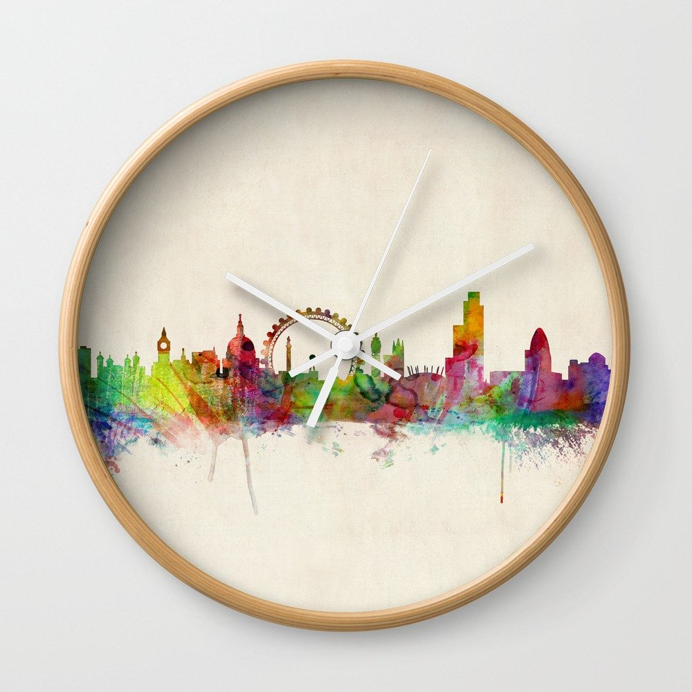 Society6 Londres Skyline Watercolor reloj de pared: artpause: Amazon.es: Hogar
