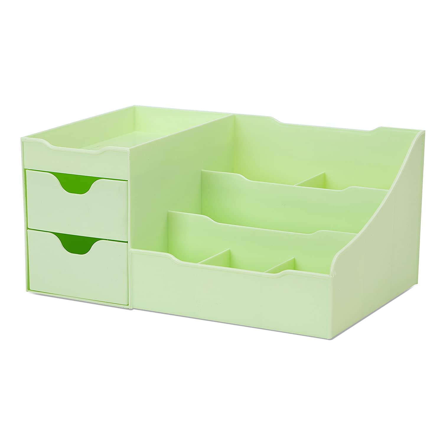 Uncluttered Designs Makeup Organizer with Drawers (Green)