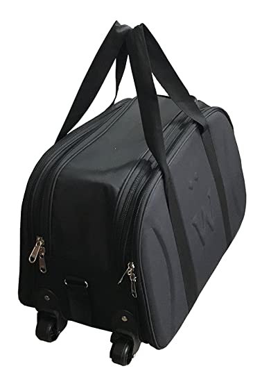 SNDIA Matty Polyester Travel Duffel Bag, Lightweight Waterproof Luggage,  Cabin Bag Shoulder Bag for Travelling with Roller Wheels - Black.  Amazon.in   Bags ... 090f7e67da