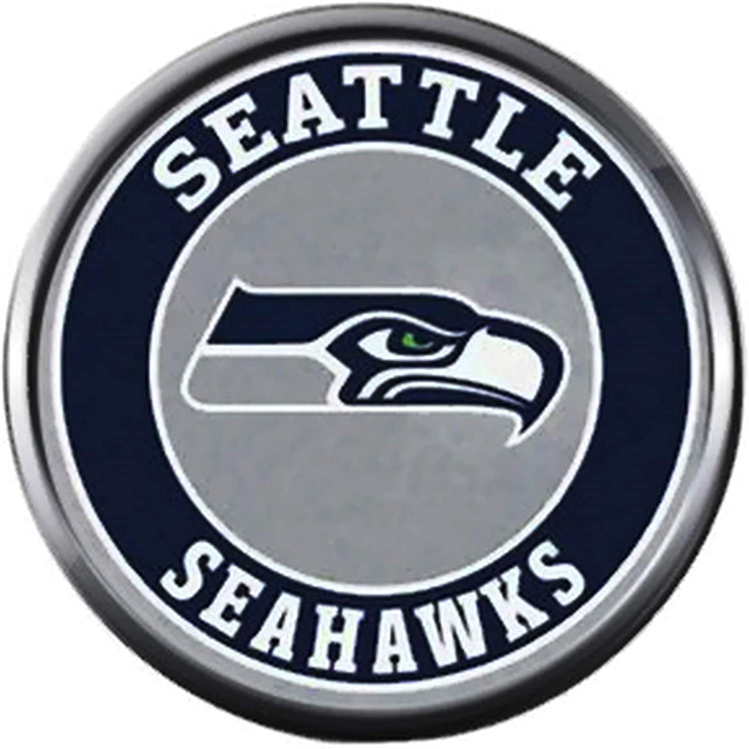 Amazon Com Nfl Seattle Seahawks Logo Circle Sports Fan Football Lovers Team Spirit 18mm 20mm Fashion Jewelry Snap Charm Jewelry
