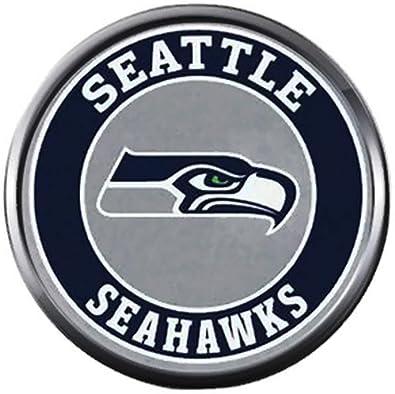 bcac7f5c959 Amazon.com  NFL Seattle Seahawks Logo Circle Sports Fan Football ...