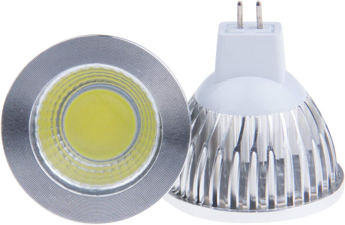 Lemonbest 85/% Energy Saving 6W LED MR16 Pin Base Cool White 6500K Mr16 COB LED Light Lamp Bulb 12V DC Pack of 4