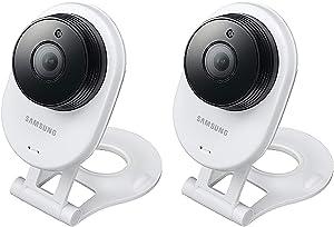 Samsung SNH-E6413BMR SmartCam HD WiFi IP Camera with 16GB microSD Card Bundle Double Pack (Renewed)