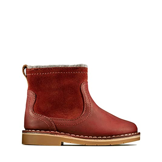 JUNIOR GIRLS ANKLE CHELSEA BOOTS RED