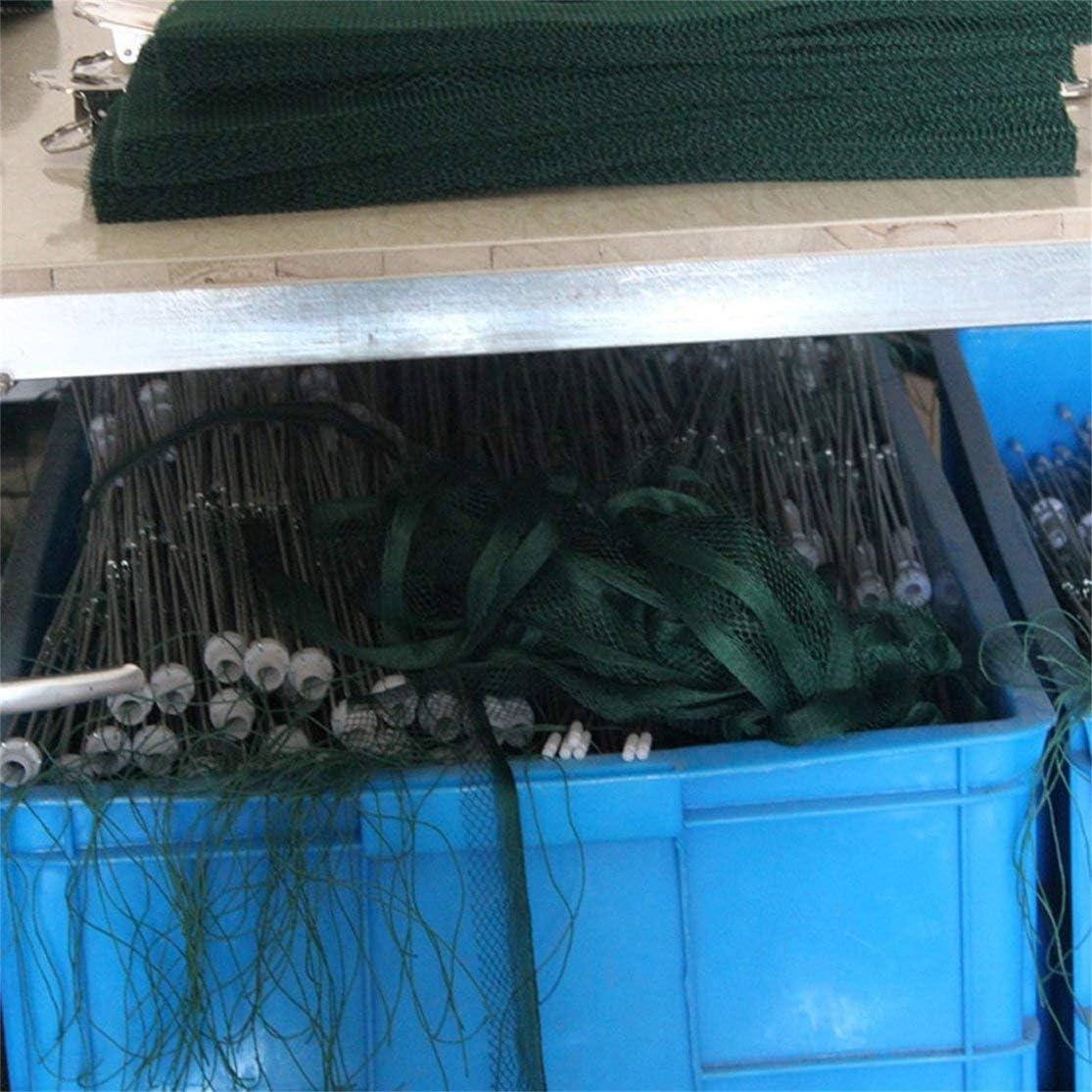 LouiseEvel215 12 Agujeros Nylon Red de Pesca Autom/ática Camar/ón Jaula Plegable Pesca Cangrejo Trampa de Pescado Reparto de la Red Fundido Accesorios de Pesca