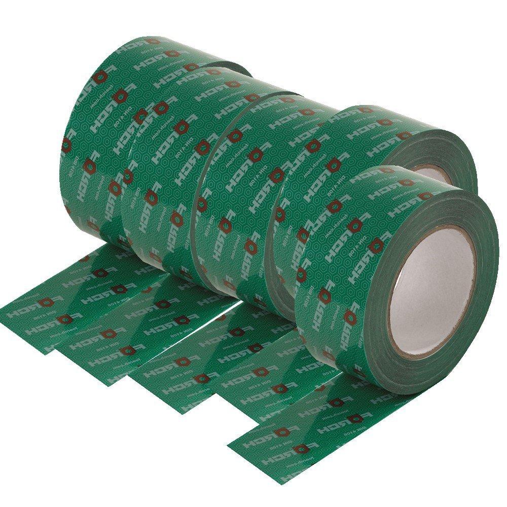 Systemklebeband gr/ün 5 Rollen Klebeband 60mm x 25 lfm f/ür Dampfbremse Dampfsperre Dampfsperrfolie Dampfbremsfolie OSB