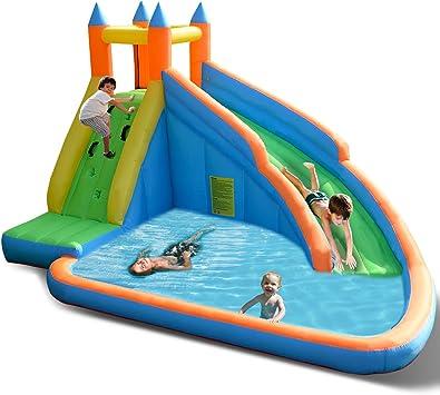 Amazon.com: Costzon inflable Slide Bouncer, piscina de agua ...