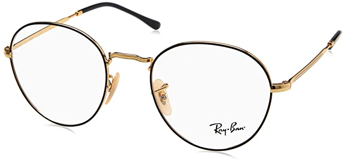 bbe55db341f Image Unavailable. Image not available for. Colour  Ray-Ban ROUND RX 3582V  BLACK GOLD unisex Eyewear Frames