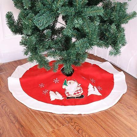 TwoCC Faldas del Árbol de Navidad Delantales Rojos del Árbol de ...