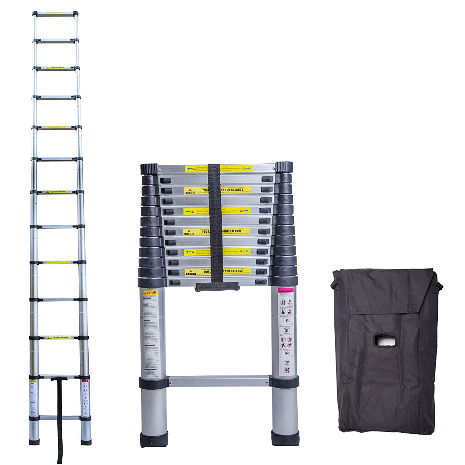10.5 Foot Unihome EN131 10.5 FT Aluminium Telescopic Ladder Extension Steps