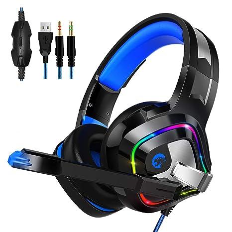 Auriculares Gaming para PS4, PC, Xbox One, Smiler+ Auriculares ...
