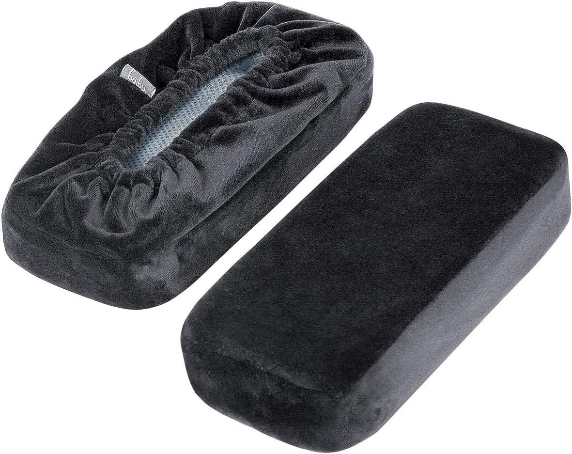 baibu Ergonomic Memory Foam Office Chair Armrest Pads, Comfy Gaming Chair Arm Rest Covers for Elbows and Forearms Pressure Relief(Set of 2) : Office Products
