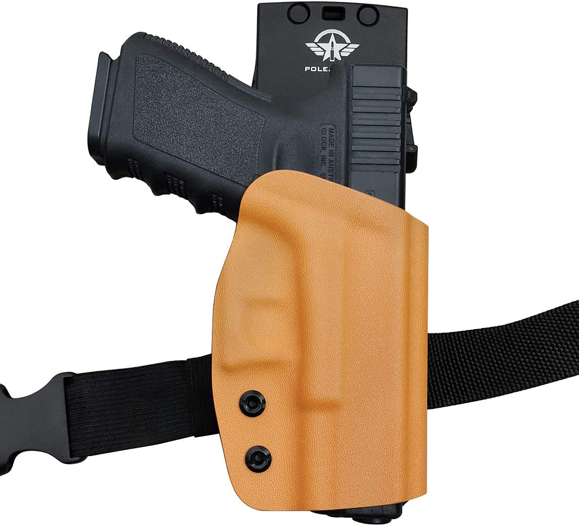PoLe.Craft OWB KYDEX Holster Fits: Glock 19 19x Glock 23 25 32 Glock 17 22 31 Glock 26 27 33 (Gen 1-5) CZ P10 Gun Holster Belt Outside Carry Pistol Case Pouch Men Women Friend Gifts