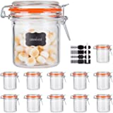 Glass Jars With Airtight Lids,Encheng Mason Jars 8 oz,Glass Jars With Leak Proof Rubber Gasket 250ml,Storage Jars With Hinged