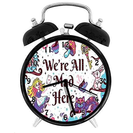 Amazon.com: 47BuyZHJX Decoration-We are All Mad Here - Reloj ...