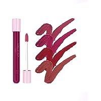 Makeupbox 4 Labiales Matte Larga Duración Redish Collection lip gloss endless Matte 12-horas Touch-proof libres de plomo, conservadores y parabenos,cruelty free