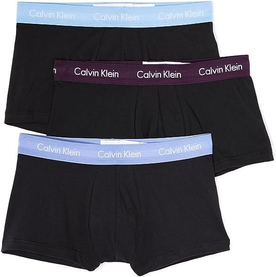 Calvin Klein Underwear Men's 3 Pack Cotton Stretch Low Rise Trunks