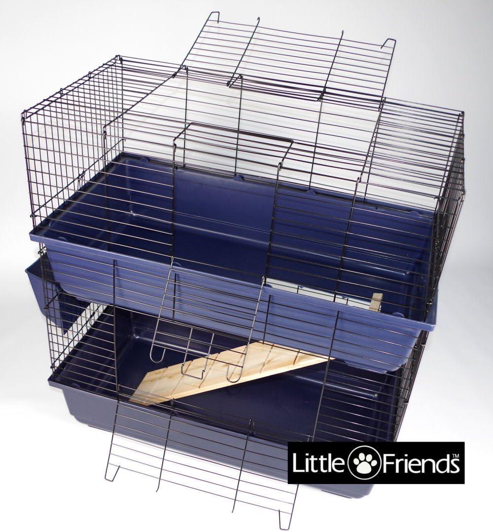 Little Friends Jaula de Conejo, Doble Nivel, 80 cm