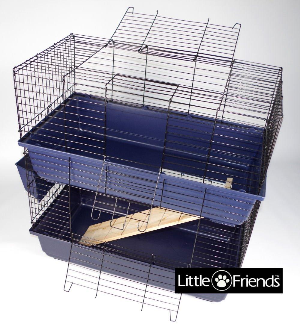 Little Friends Cage pour lapin à deux étages 80 cm TK50869