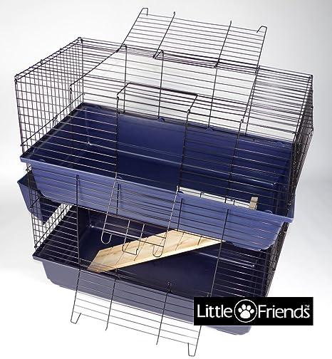 Little Friends Jaula de Conejo, Doble Nivel, 80 cm: Amazon.es ...