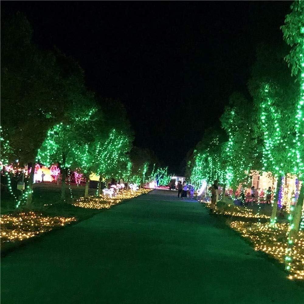 GNBHCP Lichterketten LED-Lichterketten, LED-Vorhang Leuchtet, LED-Schneeflocke Lichterketten, Weihnachtsfenster, Gartenparty, Gartendekoration 8-Modus Wasserdicht Lichterketten String Red-50m*500leds