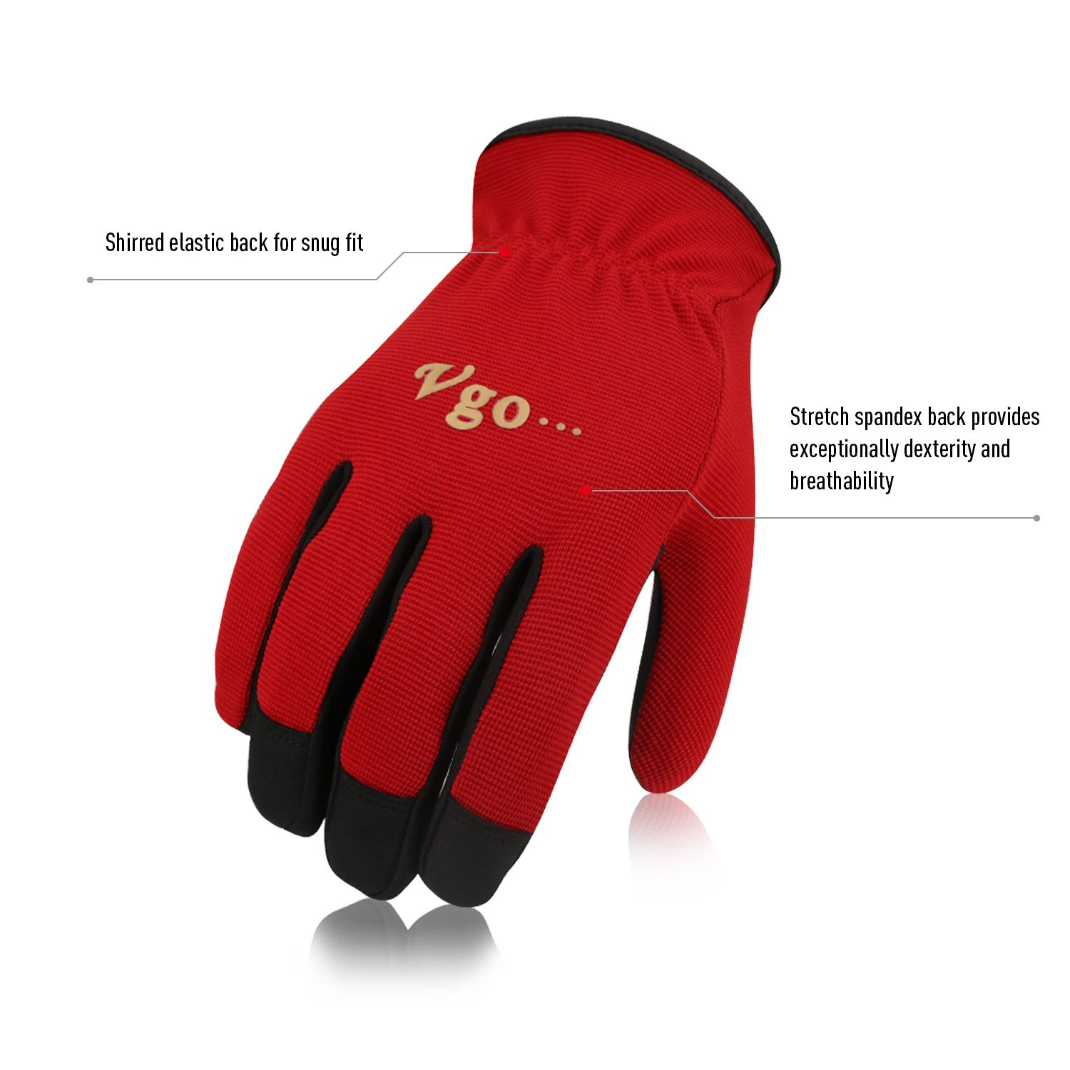 /… Garden and Light Duty Work Gloves 5 Colours, Size 8//M, AL8736 Multifunction Vgo Glove 5 Pairs Pack Artificial Leather Work Gloves