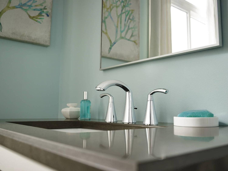 Amazon.com: Moen T6173BN Glyde Two-Handle High Arc Bathroom Faucet ...
