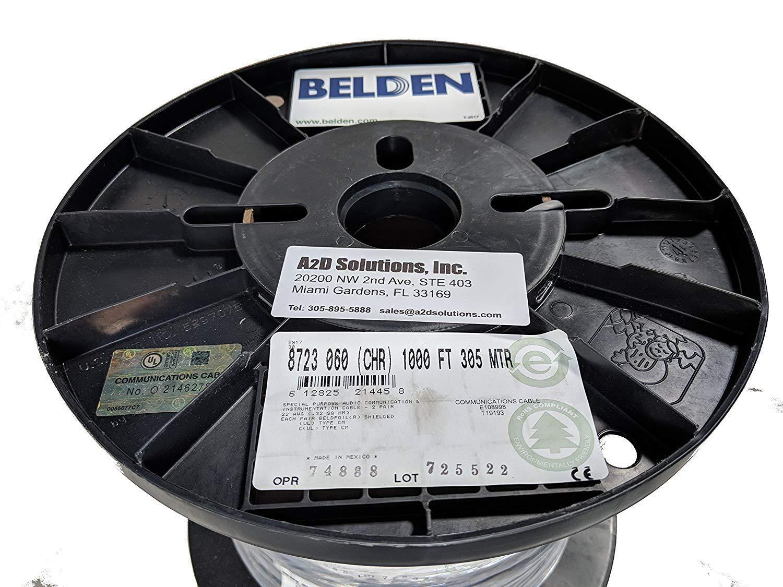 Belden Brilliance 8451 22 AWG 2C Mic Line Instrument Cable Beldfoil Shield 250 ft