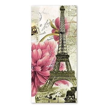 Vintage de la torre Eiffel de toallas de baño con flor de rosa toalla de playa ...