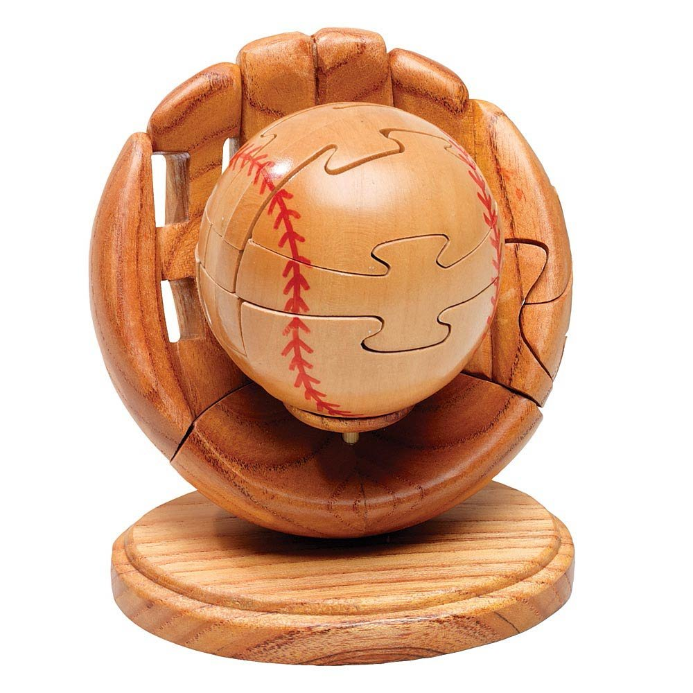 3D Jigsaw Puzzle 3-D Wooden Baseball /& Glove Puzzle Sports Puzzle Bits and Pieces Dimension in Wood