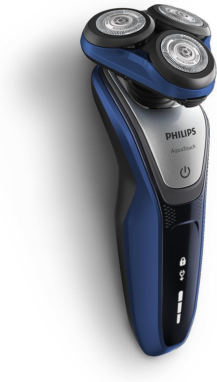 Philips AquaTouch S5600/12 - Afeitadora eléctrica, máquina sin cable, uso en húmedo y seco, 50 min de uso/1 h carga, con funda, color azul: Philips: Amazon.es: Salud y cuidado personal