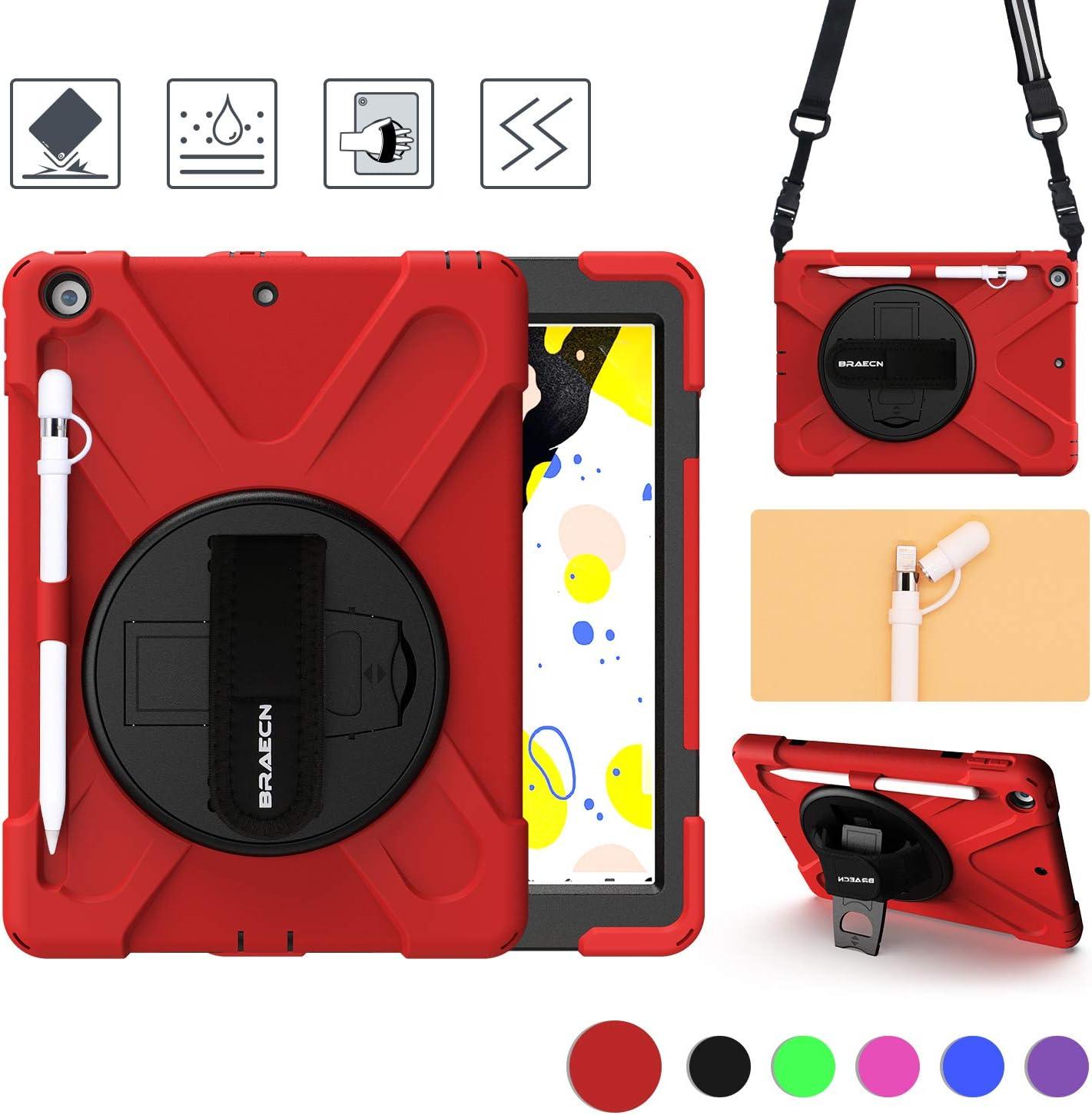 Funda BRAECN para iPad 10.2 2020 / 2019 A2197/A2198 (Rojo)