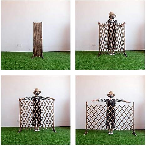 YP Muebles para el hogar Cercas Cercas de Madera Decoraciones de Rejillas Barandas telescópicas Jardín Exterior Cerca de Mascotas Cerca,70 * 120 cm: Amazon.es: Deportes y aire libre