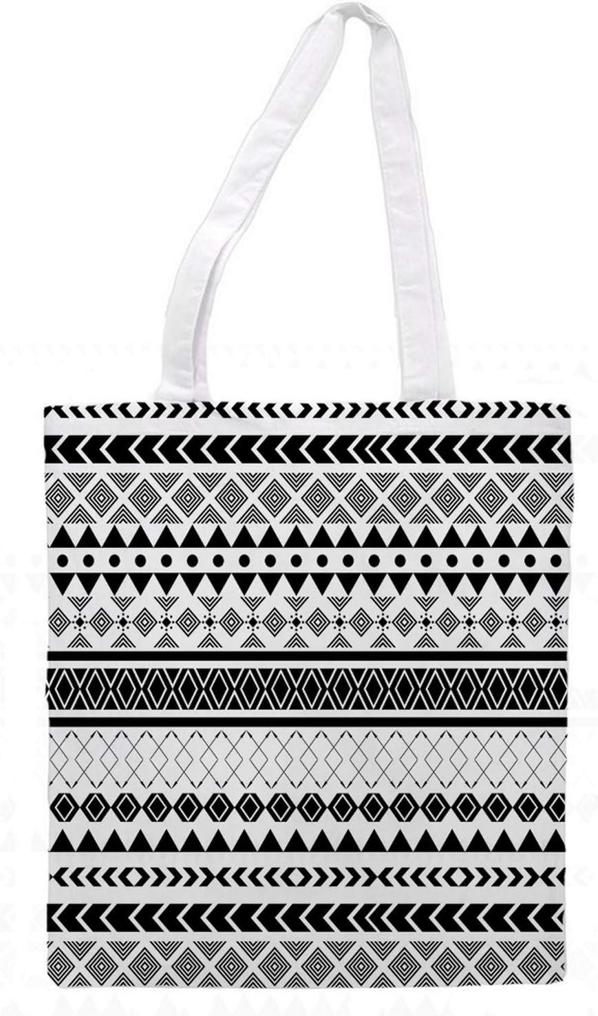Womens Tote Bag - Black & White - Sports Gym Lunch Yoga Shopping Travel Bag Washable - 1.47X0.98 Ft