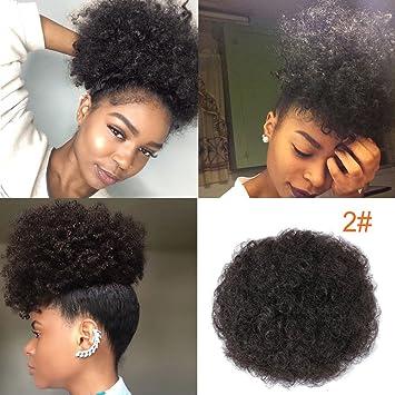 Künstliches Haarteil für Afro-Frisuren, inkl. Kordelzug, kurzer ...