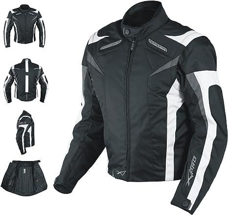 Motorradjacke Ce Protektoren Sport Textil Motorrad Thermofutter Weiss Xl Auto