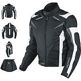 A-pro Moto CE Protections Textile Blouson Manchon Démontable Gilet Termique blanc M