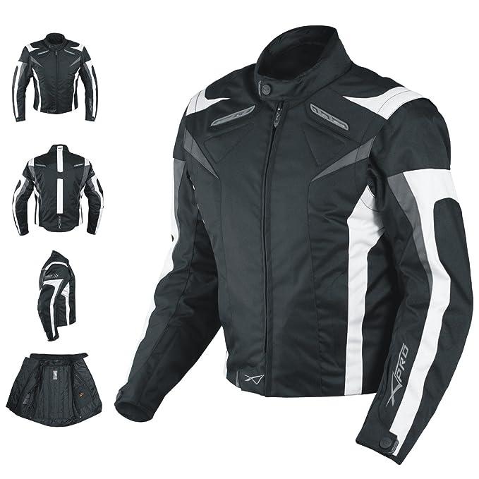150 opinioni per A-Pro Giacca Motocicletta/Bici/corsa con Protezioni CE, fodera termica, bianchi,