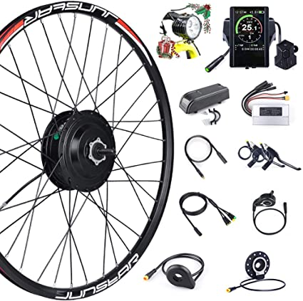 Ebike Conversion Motor Wheel Kit 36V 250W Electric Bicycle Hub Kit With Battery