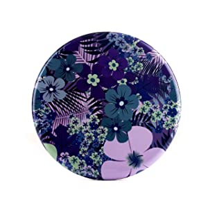Pop Sonic LED Compact Mirror | The Go Everywhere Mirror - Purple Floral