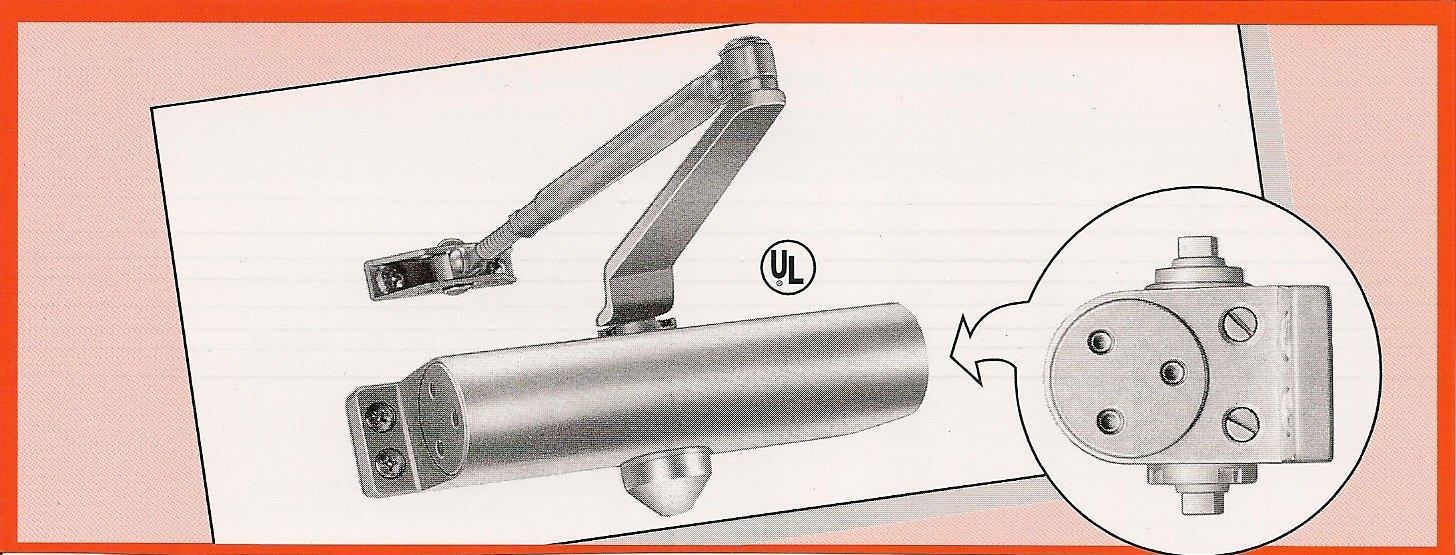 International Door Closers 851 - Standard (Regular) Arm - Size 1 Spring - Surface Mounted Hydraulic Door Closer - Finish: (AL) Aluminum