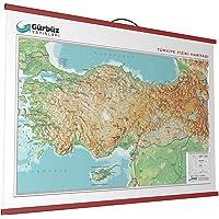 Gürbüz Yayınları 25010 Kabartma Türkiye Fiziki 70 X 100