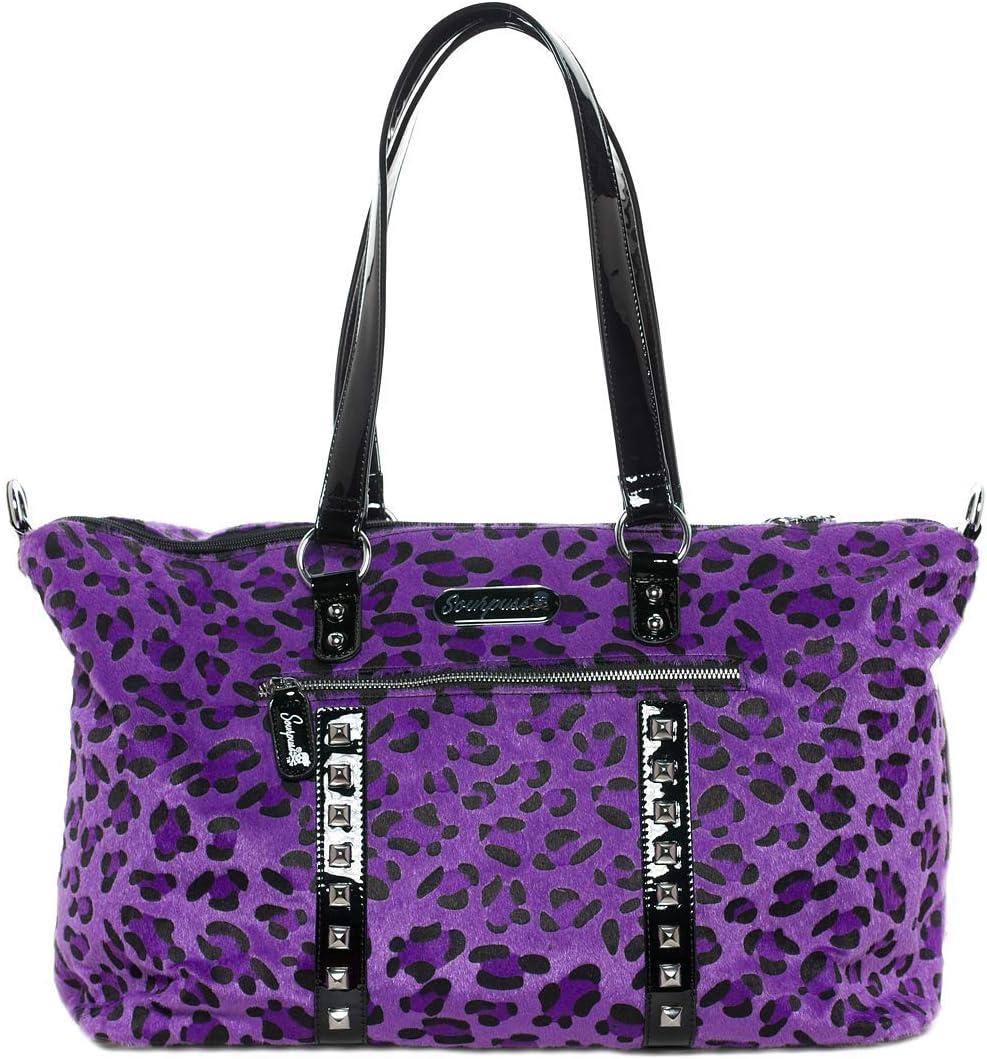Sourpuss Leopard Leda Travel Bag Purple