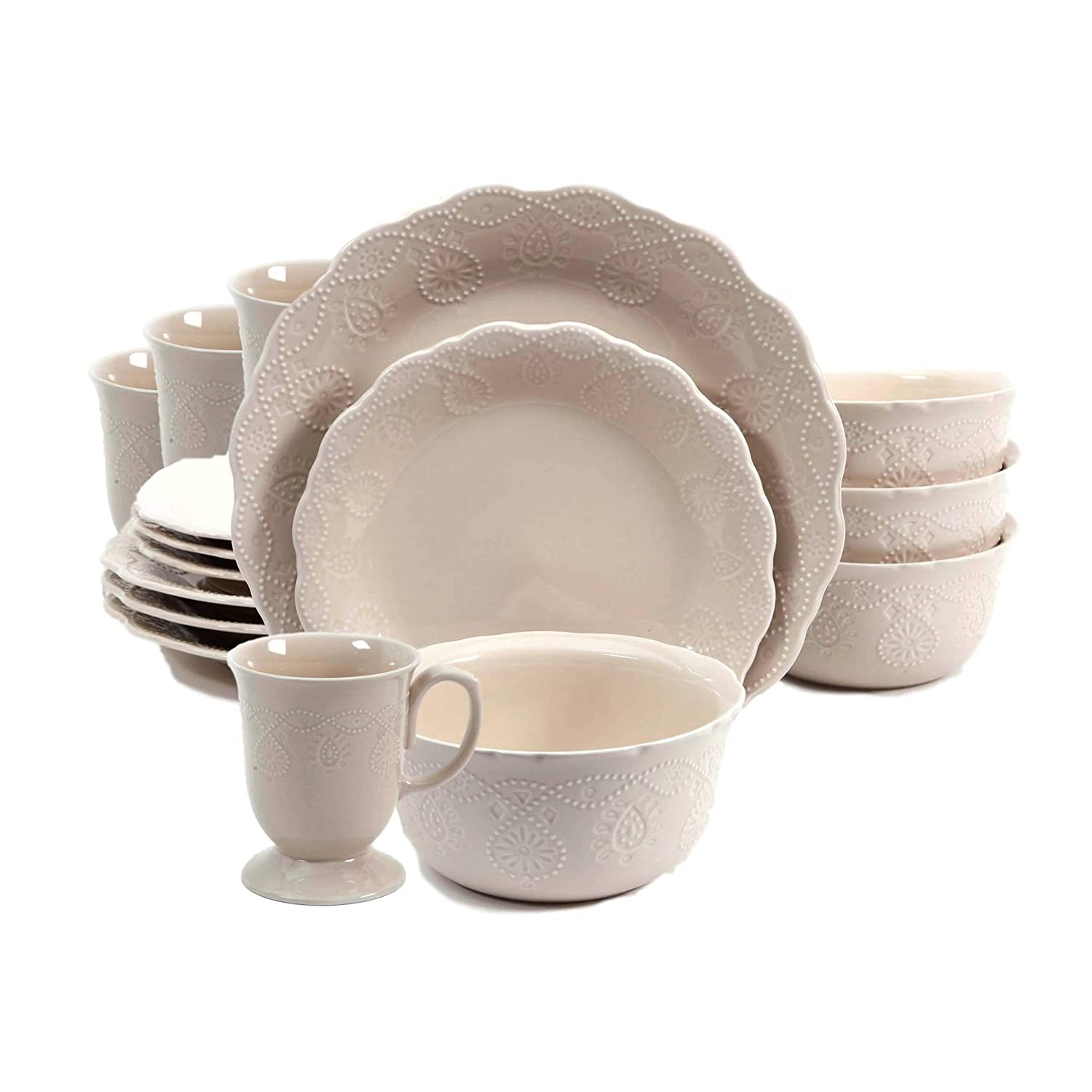 Amazon.com | The Pioneer Woman Cowgirl Lace 12-Piece Dinnerware Set ...