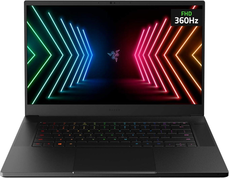"Razer Blade 15 Advanced Gaming Laptop 2021: Intel Core i7-10875H 8-Core, NVIDIA GeForce RTX 3070, 15.6"" 360Hz Full HD, 16GB RAM, 1TB SSD - CNC Aluminum - Chroma RGB - THX Spatial Audio - Thunderbolt 3"